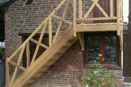 Fabrication de l'escalier et du garde-corps